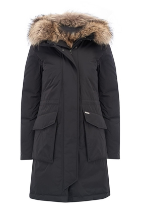Woolrich Military Parka in Black