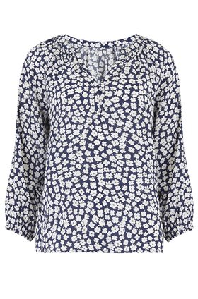 Trilogy Leonie Blouse in Navy Floral