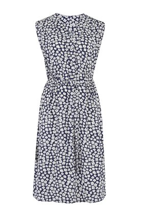 Trilogy Pippa Sleeveless Dress in Navy Floral