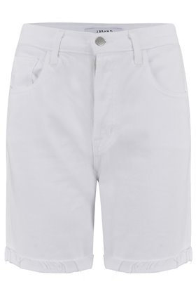 J Brand Billey High Rise Denim Short in White