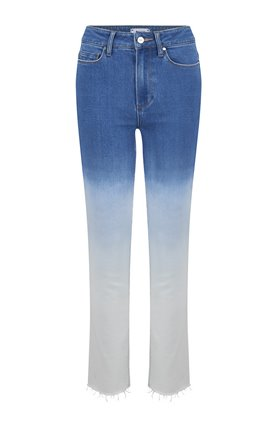 Paige Hoxton Slim Straight Leg Jean in Arctic Ombre