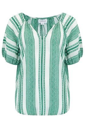 Velvet Halsey Kaftan Top in Green