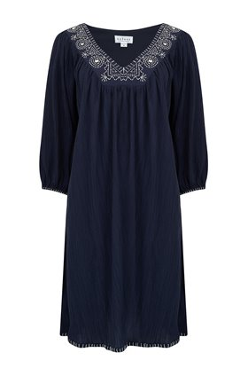 Velvet Trista Dress in Navy