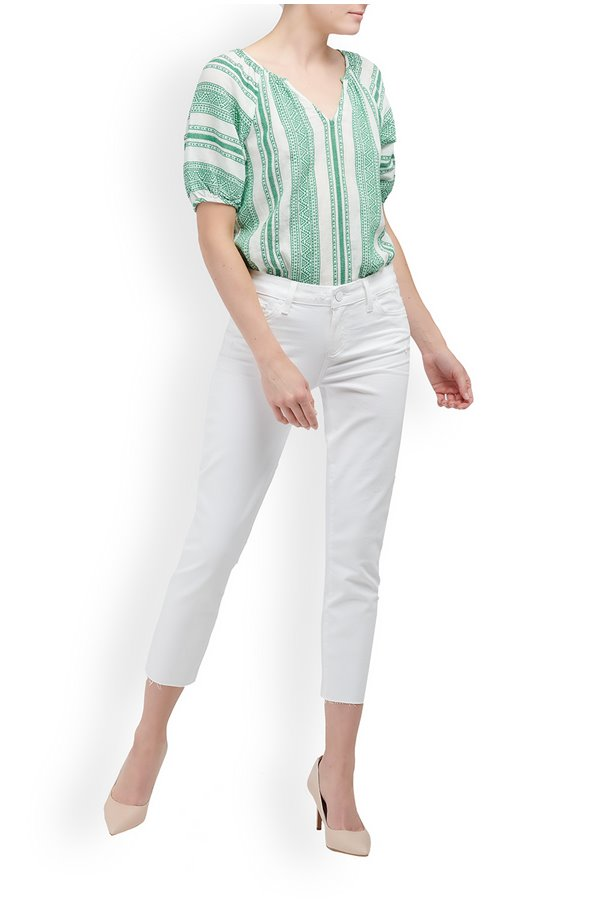 skyline skinny crop jean in lived in crisp white