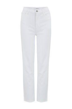 J Brand Jules High Rise Straight Leg Jean in White