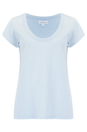 katie scoop neck tee in anchor