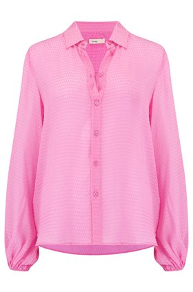 Levete Room  Felina Textured Shirt in Fuchsia
