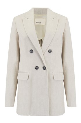 Levete Room  Linen Blazer in Natural