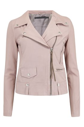 MDK - Munderingskompagniet Seattle Thin Leather Biker Jacket in Mushroom