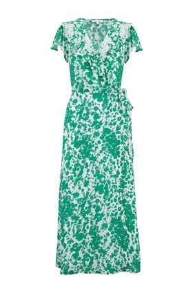 Lily & Lionel Trixie Dress in Forget Me Not Green and White