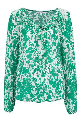 Lily & Lionel Eden Top in Forget Me Not Green and White
