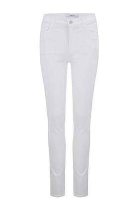 J Brand Ruby High-Rise Cigarette Jean in Blanc (30 Inch Inseam)