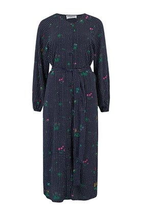 Essentiel Antwerp Tataclean Shirt Dress in Blue Floral