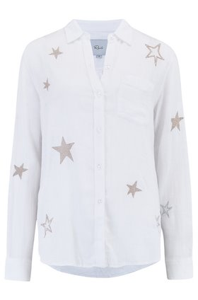 Rails Charli Shirt in White Rose Gold Stars