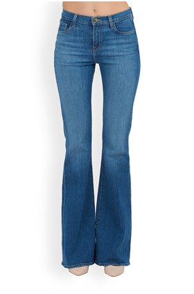 J Brand Valentina High-Rise Flare in Endeavor