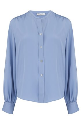 Vince Shirred Back Blouse in Avalon