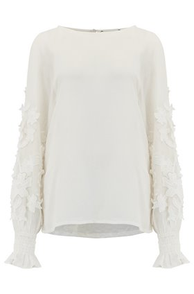 Essentiel Antwerp Tat Blouse in Off White
