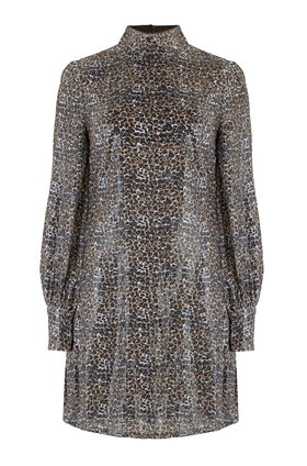melissa dress in sequin leopard
