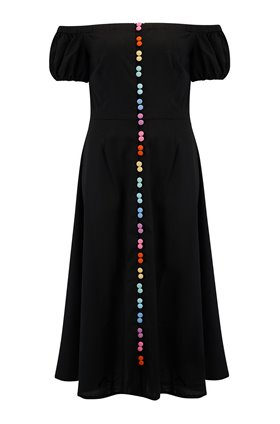 harry midi dress in black