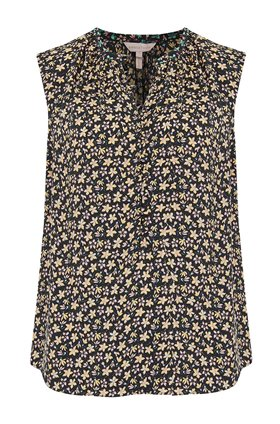 Rebecca Taylor Louisa Floral Top in Yellow Combo