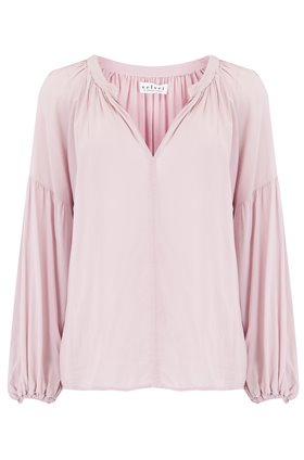 Velvet Elaine Blouse in Bubble Pink