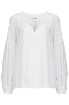 elaine blouse in white