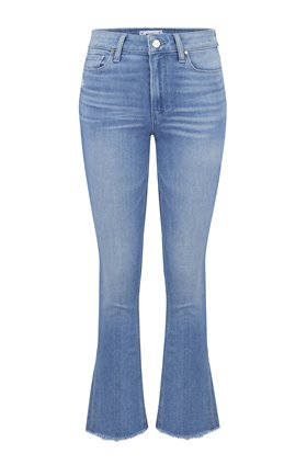 Paige Atley Ankle Flare Jean in Luau Distressed