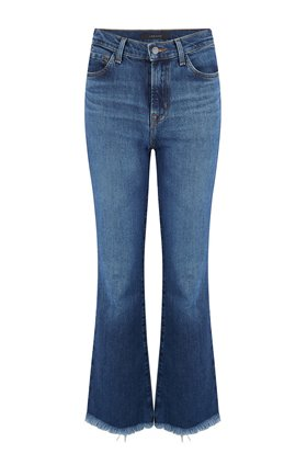 J Brand Julia High-Rise Flare Jean in Romance