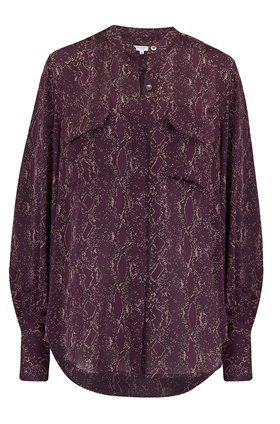 Equipment Helaine Shirt in Python Aubergine Multi