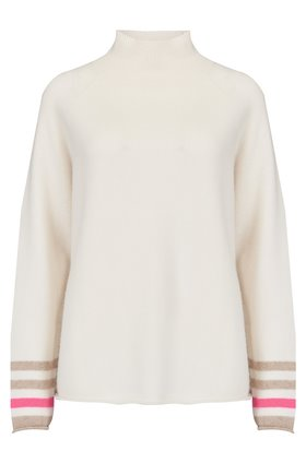 Jumper1234 Secret Stripe Winter Jumper in Cream