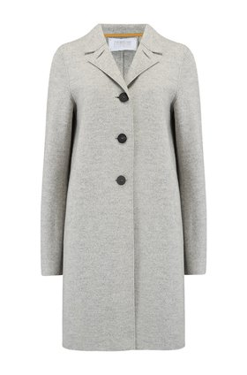 boxy coat in grey mouline