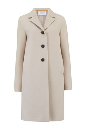 Harris Wharf London Boxy Coat in Cream