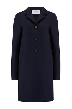 Harris Wharf London Boxy Coat in Navy Blue