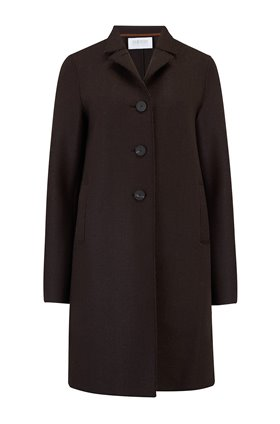 Harris Wharf London Boxy Coat in Chocolate