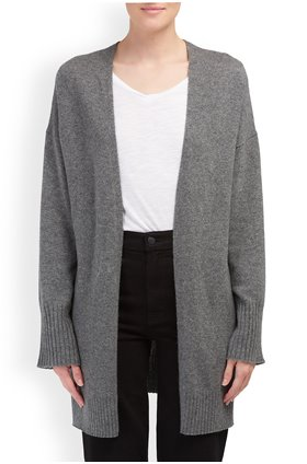 360 Sweater Ariana Cardigan in Mid Heather Grey