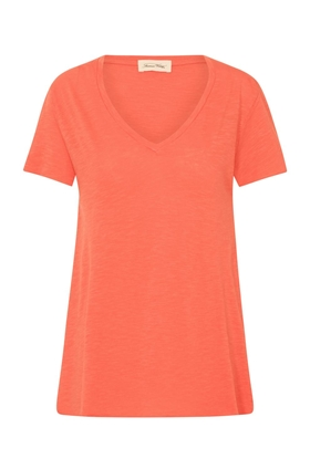 American Vintage Jac51 Short Sleeve T-Shirt in Tomato