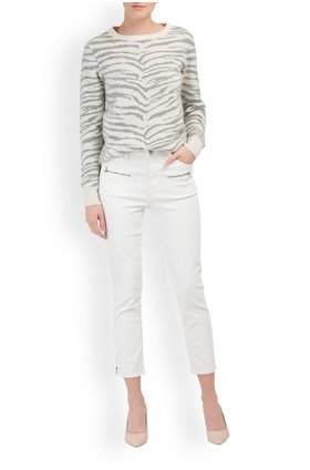 J Brand Ruby Cropped Cigarette in Coated Bubble