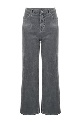 J Brand Joan Wide Leg Cropped Jean in Sleepwalker Corduroy