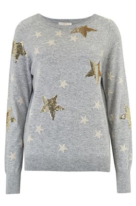 Jeff Knitwear Clay in Sequin Star Grey