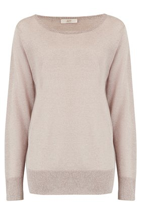 Jeff Knitwear Fizz Lurex Jumper in Beige