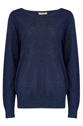 Jeff Knitwear Fizz Lurex Jumper in Blue