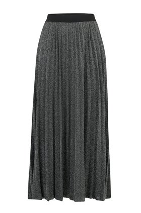 Jeff Knitwear Maya Lurex Skirt in Silver