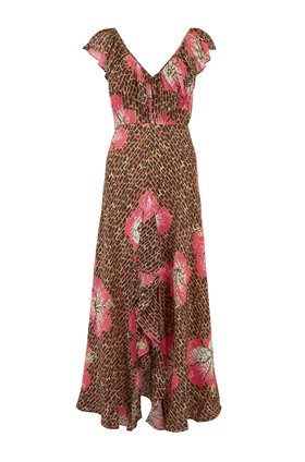 Rixo Antoinette Dress in Hawaiian Floral