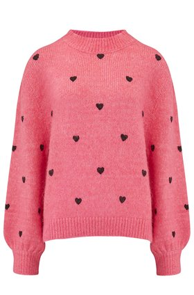 Rixo Ariana Jumper in Pink Heart