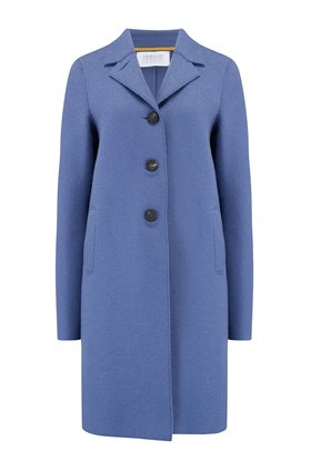 Harris Wharf London Boxy Coat in Powder Blue