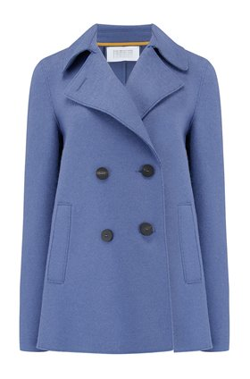 Harris Wharf London Peacoat in Powder Blue