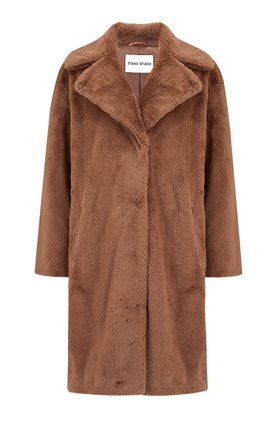 camille coat in taupe