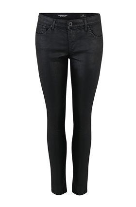 AG Jeans Legging Ankle in Leatherette Super Black