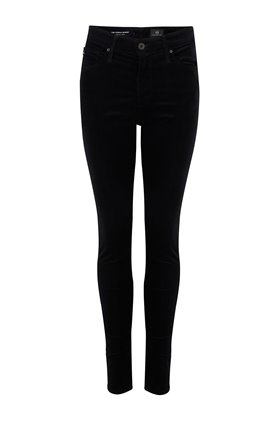 farrah skinny velvet jean in super black
