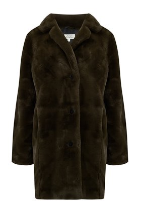 Hartford Faux Fur Coat in Vinta
